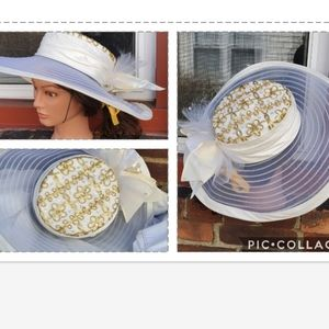 Whittall & Shon organza / soutache hat